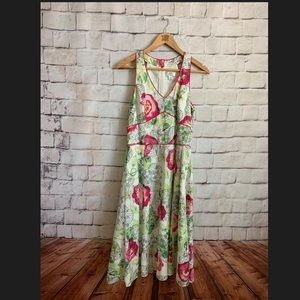 Ann Taylor LOFT Dress, Floral, Fit And Flare, 10